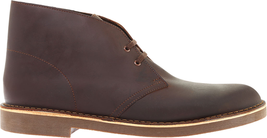 Men's Clarks Bushacre 2 Boot, Dark Brown Leather, large, image 2