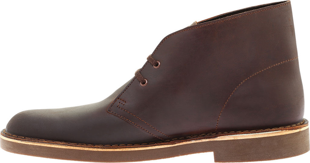 Men's Clarks Bushacre 2 Boot, Dark Brown Leather, large, image 3