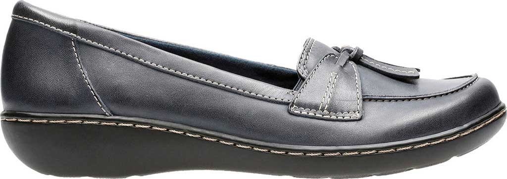 Women's Clarks Ashland Bubble, Navy Leather, large, image 2