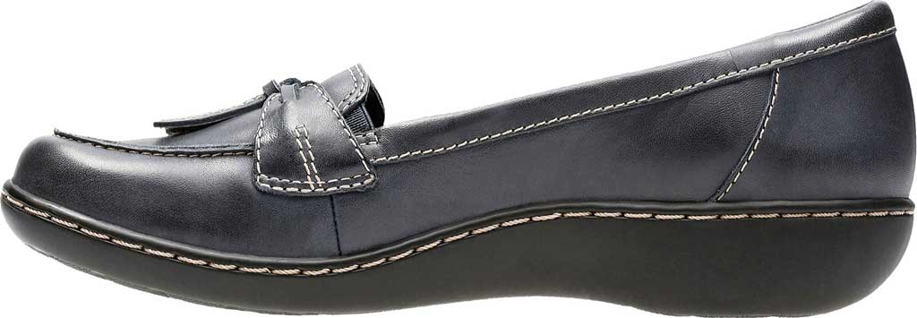 Women's Clarks Ashland Bubble, Navy Leather, large, image 3
