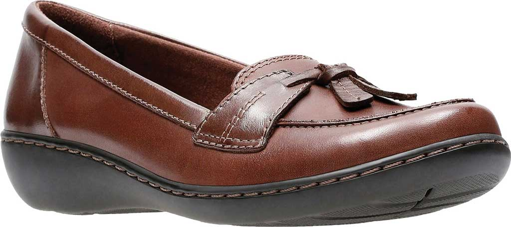 Women's Clarks Ashland Bubble, Brown Leather, large, image 1