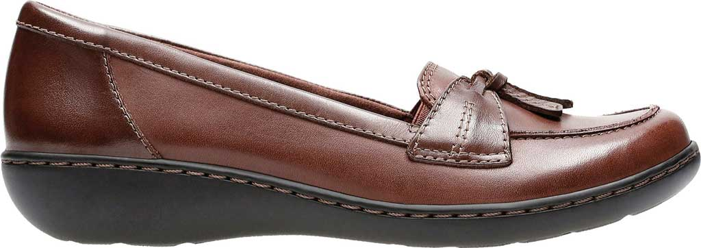 Women's Clarks Ashland Bubble, Brown Leather, large, image 2