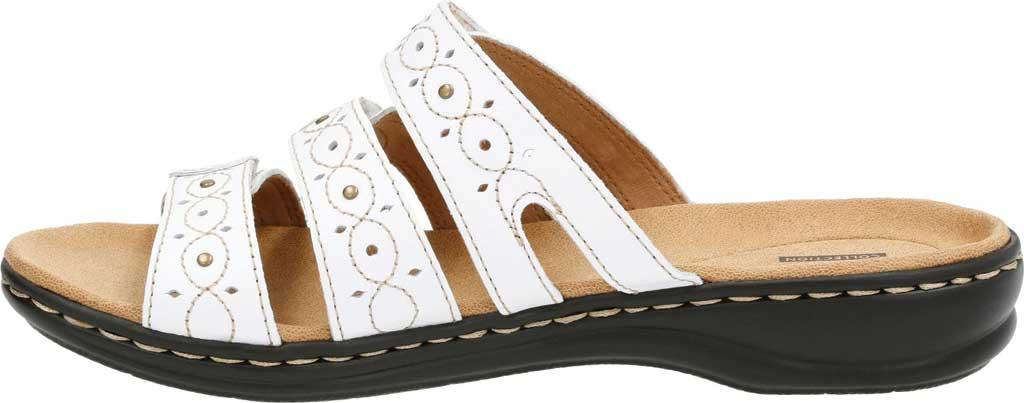 Women's Clarks Leisa Cacti, White Leather, large, image 3