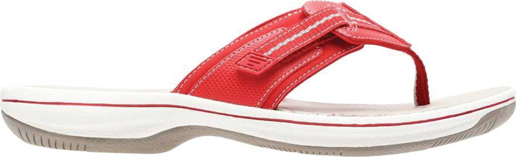 Women's Clarks Brinkley Jazz, Red/Red Synthetic, large, image 2