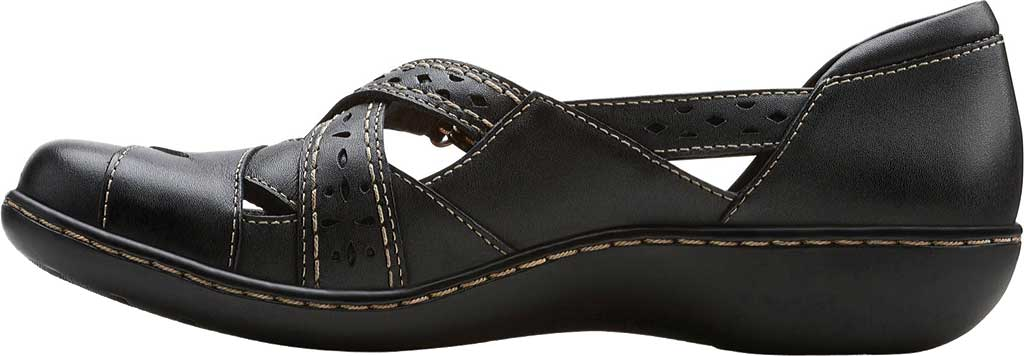 Women's Clarks Ashland Spin, Black Leather, large, image 3