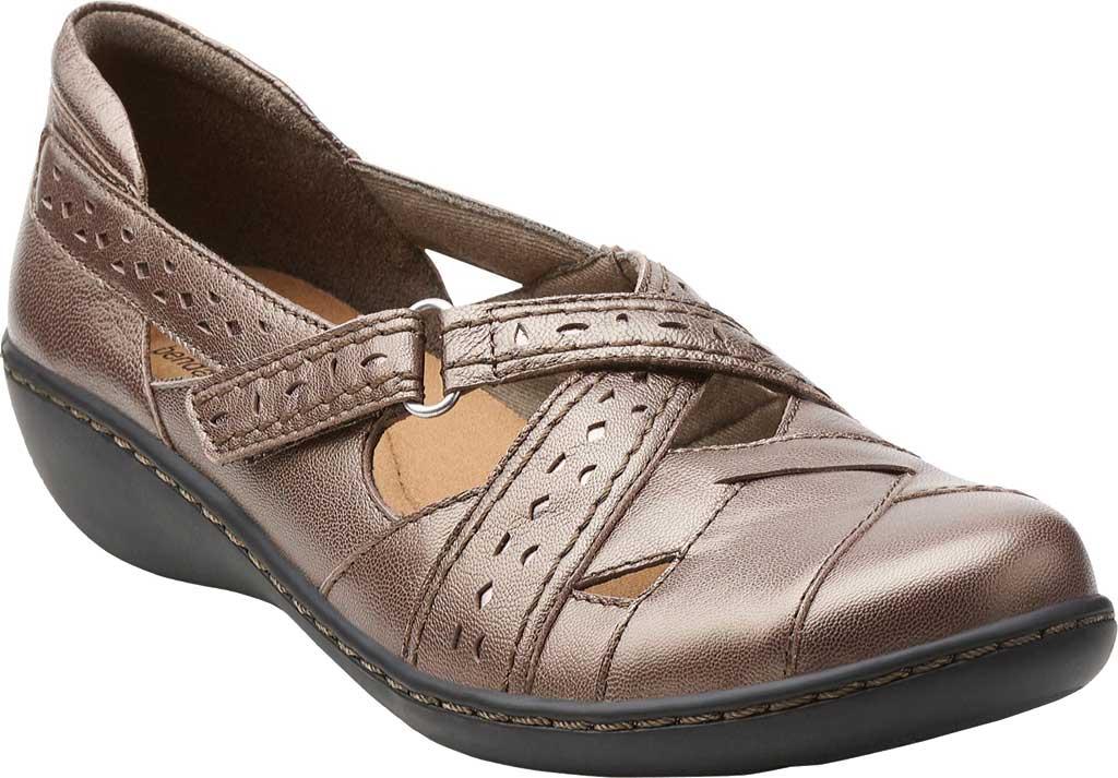 Women's Clarks Ashland Spin, Pewter Leather, large, image 1