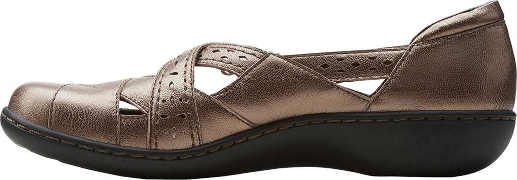 Women's Clarks Ashland Spin, Pewter Leather, large, image 3