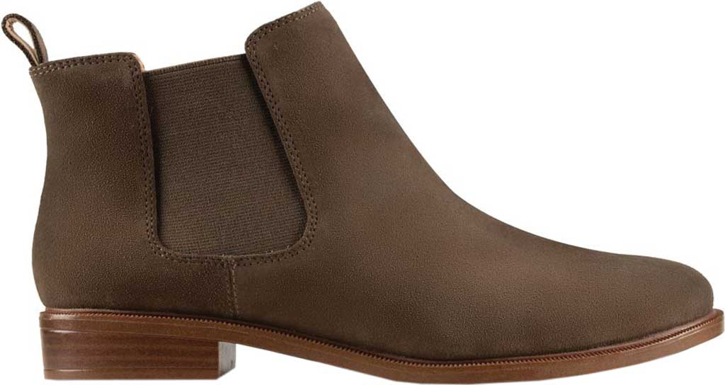 Women's Clarks Taylor Shine Boot, Dark Olive Suede, large, image 2