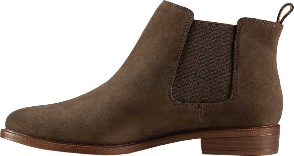 Women's Clarks Taylor Shine Boot, Dark Olive Suede, large, image 3