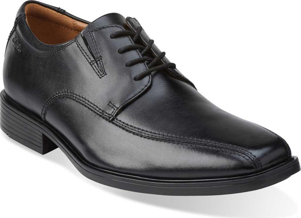 Men's Clarks Tilden Walk Oxford, Black Leather, large, image 1
