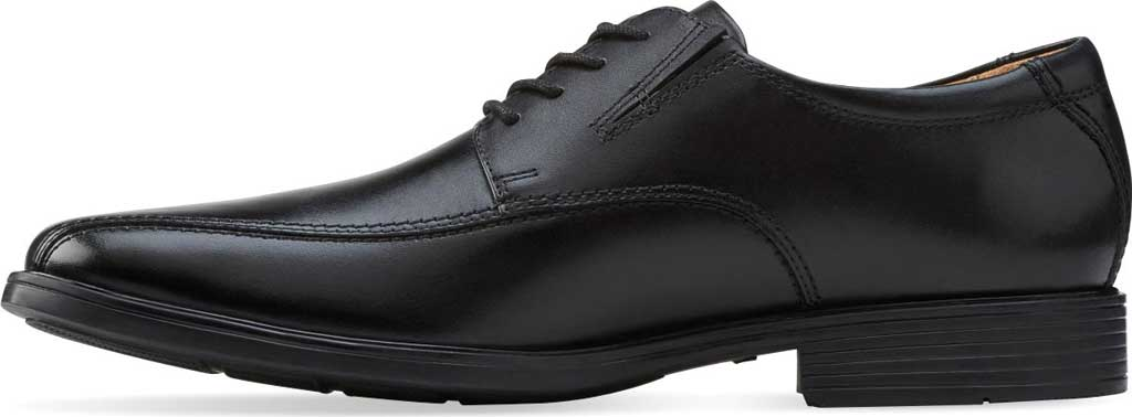 Men's Clarks Tilden Walk Oxford, Black Leather, large, image 3