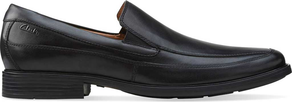 Men's Clarks Tilden Free, Black Leather, large, image 2