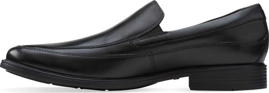Men's Clarks Tilden Free, Black Leather, large, image 3
