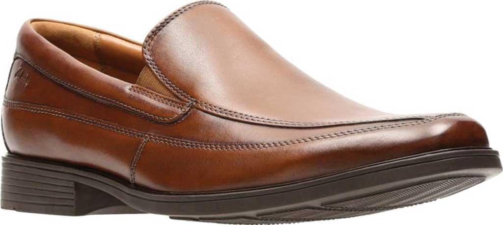 Men's Clarks Tilden Free, Dark Tan Leather, large, image 1