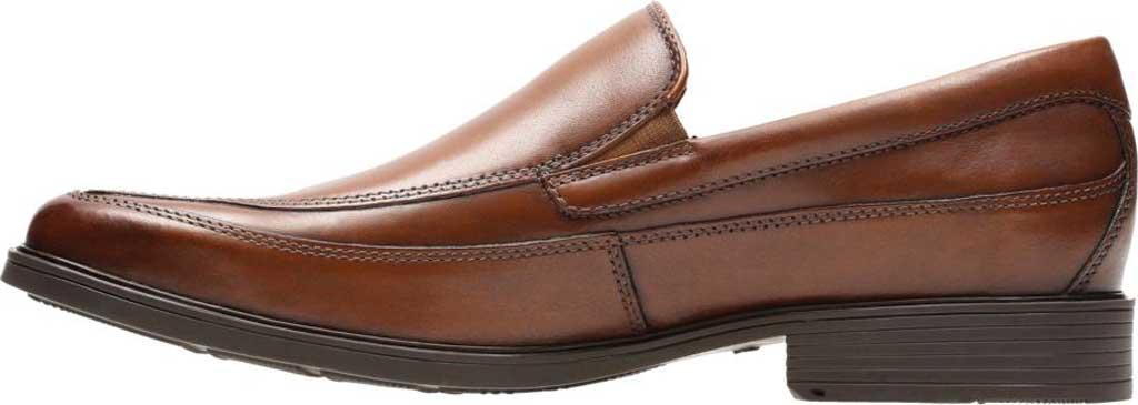 Men's Clarks Tilden Free, Dark Tan Leather, large, image 3