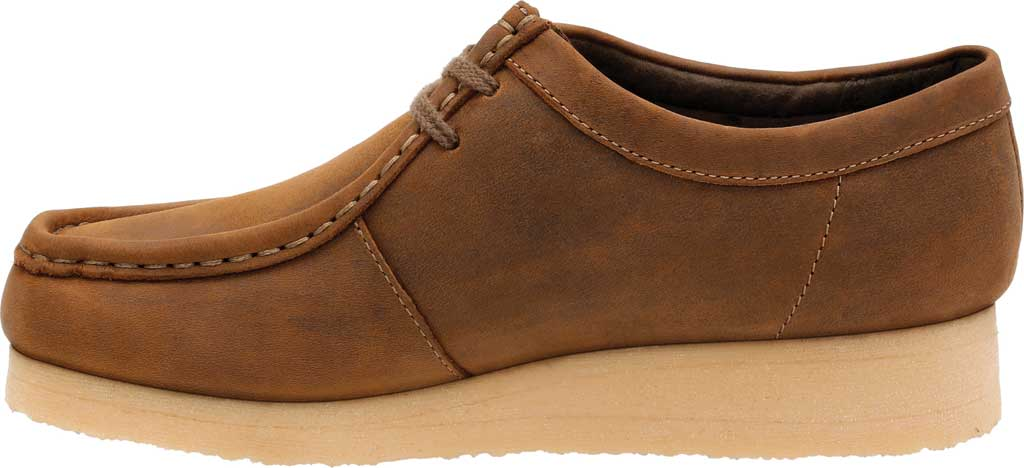 Women's Clarks Padmora Moccasin, Brown Smooth Leather, large, image 3