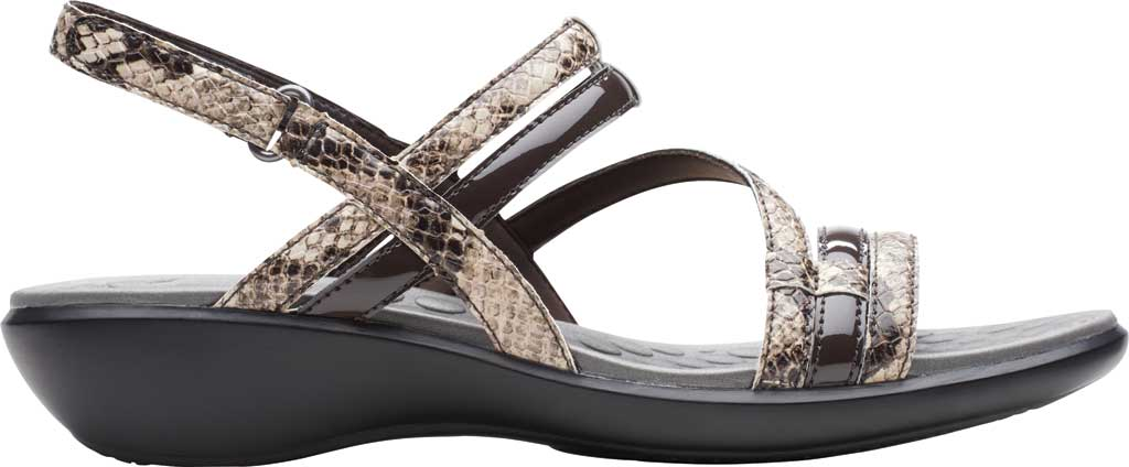 Women's Clarks Sonar Pioneer Sandal, Taupe Snake Synthetic, large, image 2
