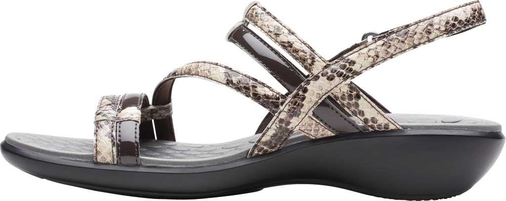 Women's Clarks Sonar Pioneer Sandal, Taupe Snake Synthetic, large, image 3