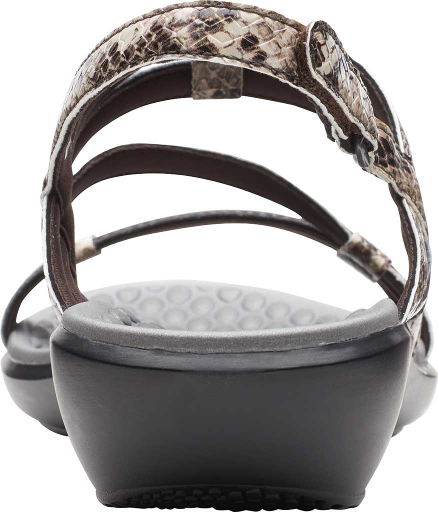 Women's Clarks Sonar Pioneer Sandal, Taupe Snake Synthetic, large, image 4