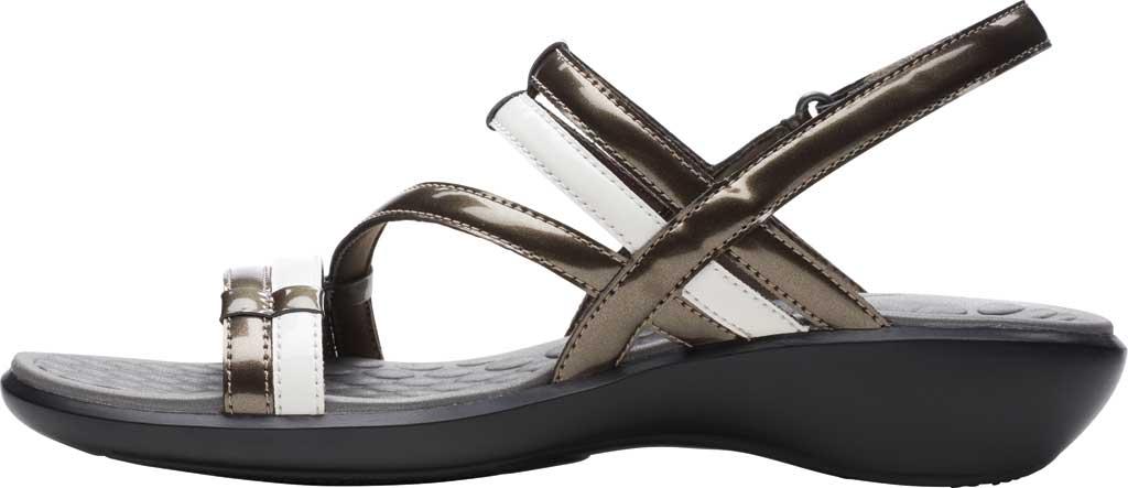 Women's Clarks Sonar Pioneer Sandal, Pewter Metallic/White Synthetic, large, image 3