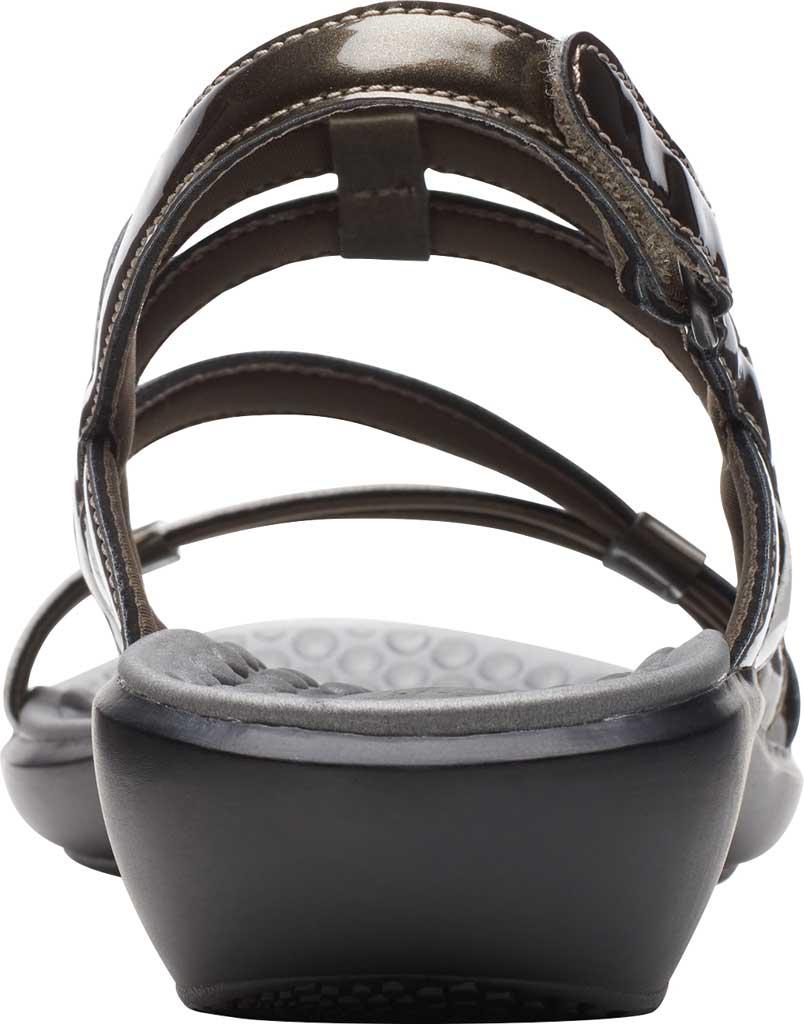 Women's Clarks Sonar Pioneer Sandal, Pewter Metallic/White Synthetic, large, image 4