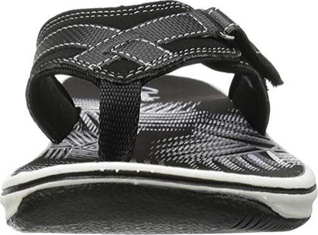 Women's Clarks Breeze Sea Flip Flop, Black Synthetic, large, image 4