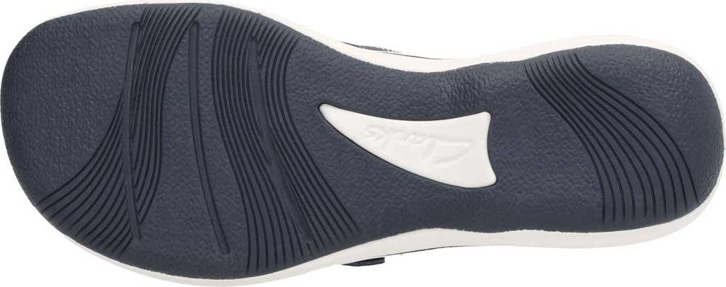 Women's Clarks Breeze Sea Flip Flop, Navy Synthetic, large, image 7