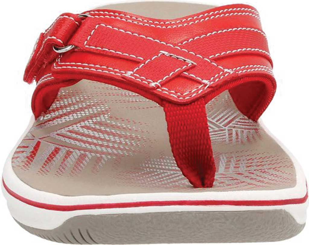 Women's Clarks Breeze Sea Flip Flop, Red Synthetic, large, image 4