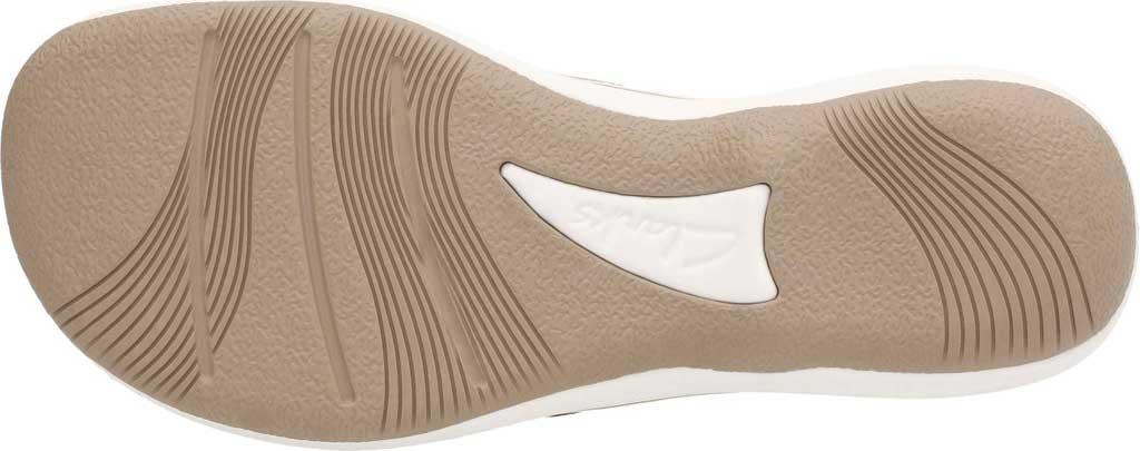 Women's Clarks Breeze Sea Flip Flop, Taupe Linen, large, image 7