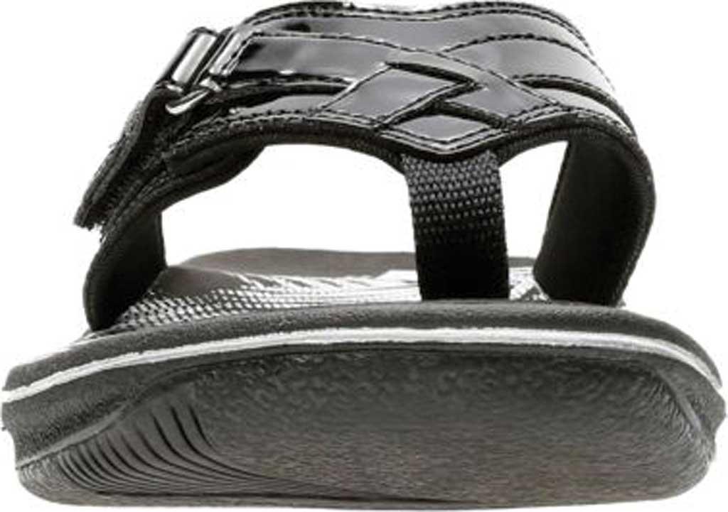 Women's Clarks Breeze Sea Flip Flop, Black Synthetic Patent, large, image 4