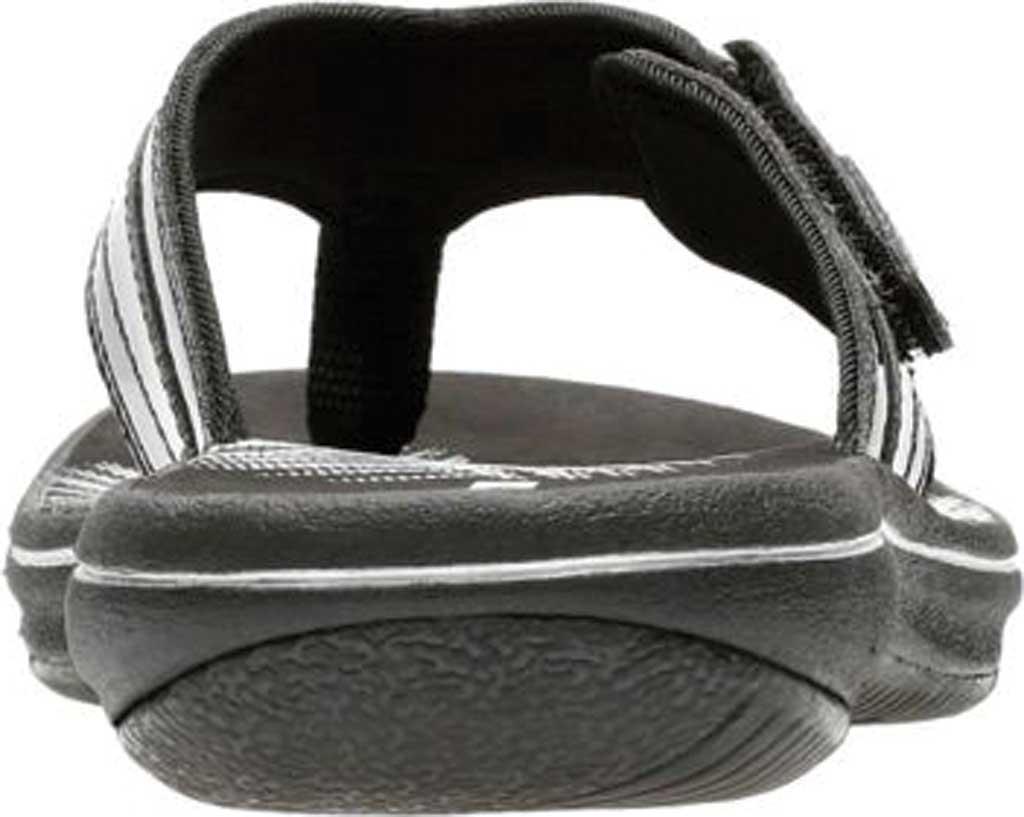 Women's Clarks Breeze Sea Flip Flop, Black Synthetic Patent, large, image 5