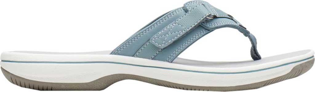Women's Clarks Breeze Sea Flip Flop, Blue Grey Synthetic, large, image 2