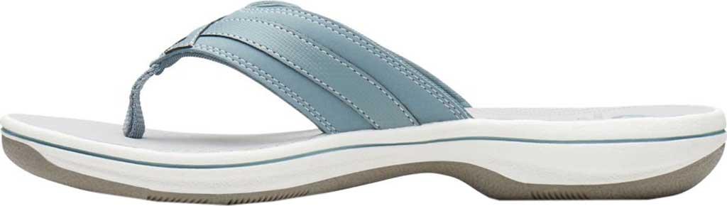 Women's Clarks Breeze Sea Flip Flop, Blue Grey Synthetic, large, image 3