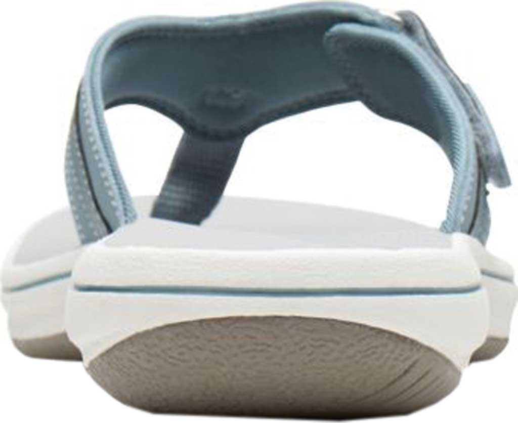 Women's Clarks Breeze Sea Flip Flop, Blue Grey Synthetic, large, image 4