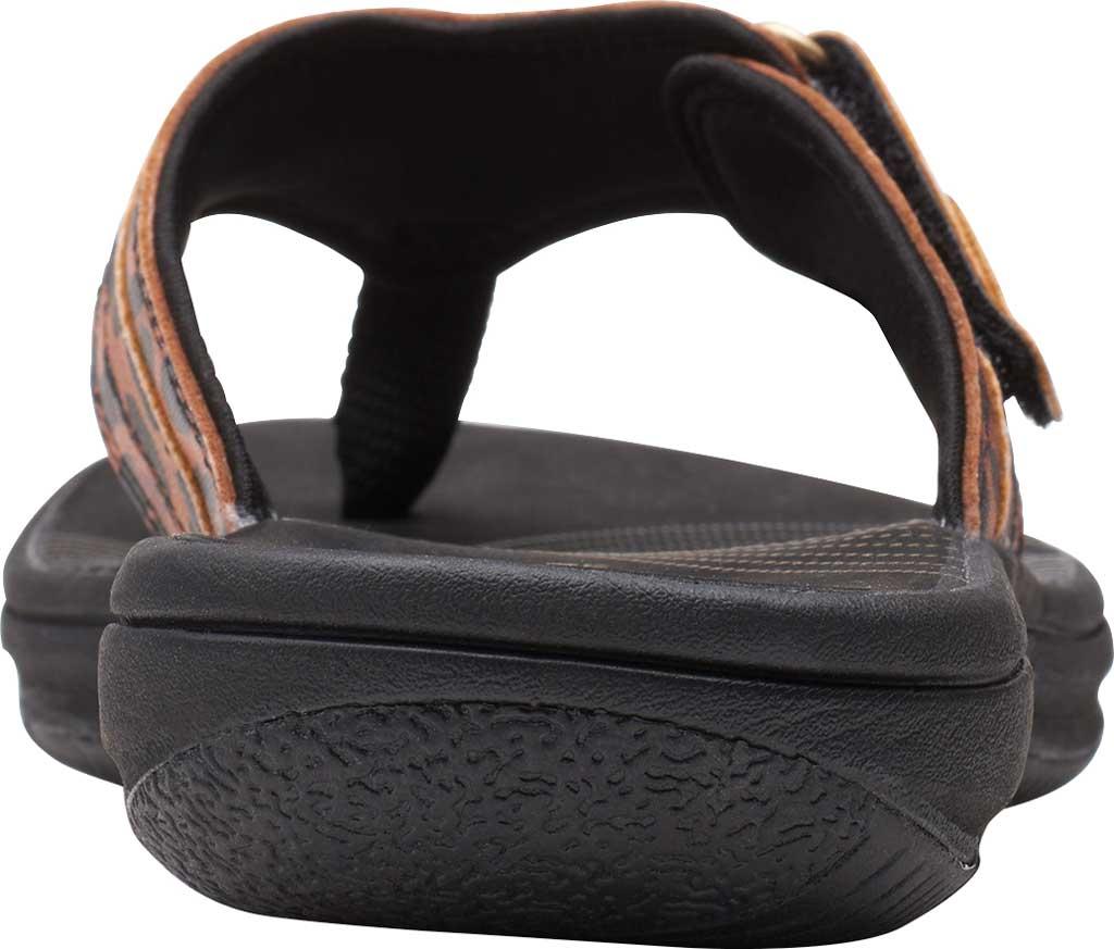 Women's Clarks Breeze Sea Flip Flop, Black/Tan Interest Synthetic, large, image 4
