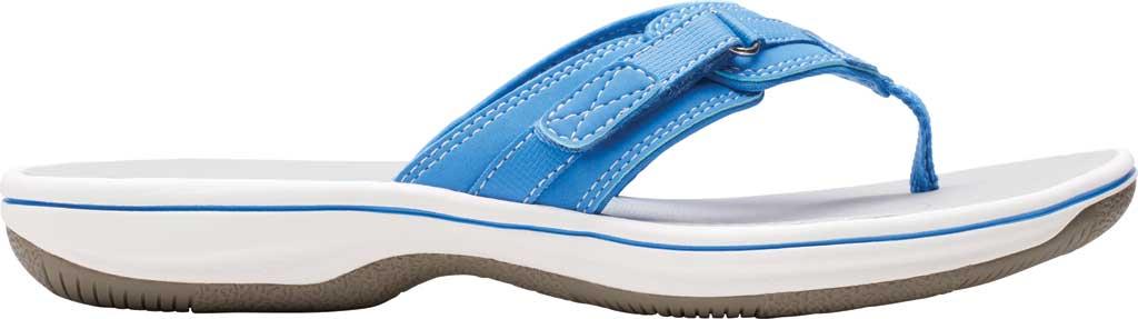 Women's Clarks Breeze Sea Flip Flop, Blue Synthetic II, large, image 2