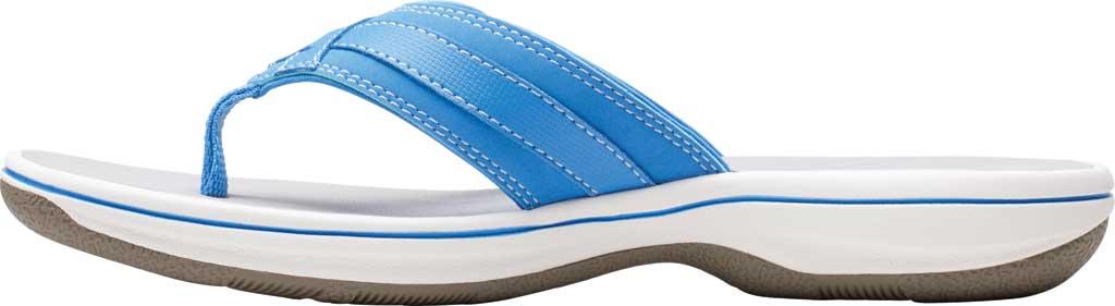 Women's Clarks Breeze Sea Flip Flop, Blue Synthetic II, large, image 3