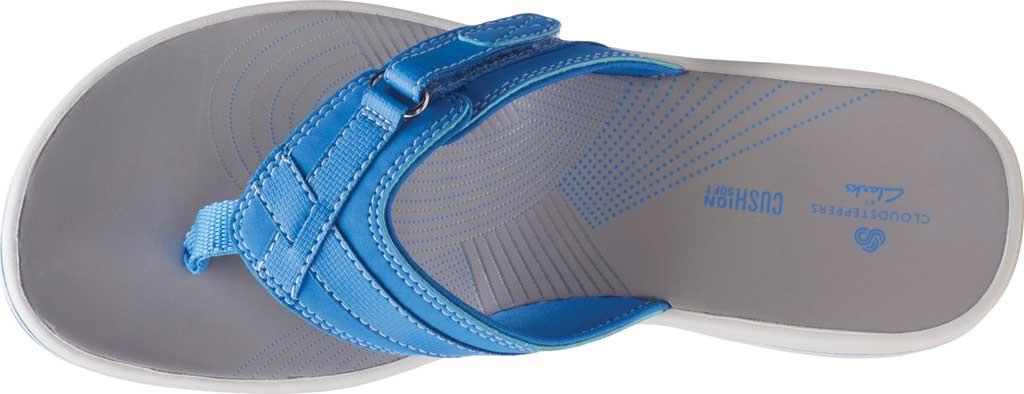 Women's Clarks Breeze Sea Flip Flop, Blue Synthetic II, large, image 5