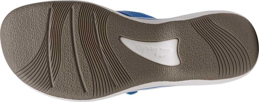 Women's Clarks Breeze Sea Flip Flop, Blue Synthetic II, large, image 6