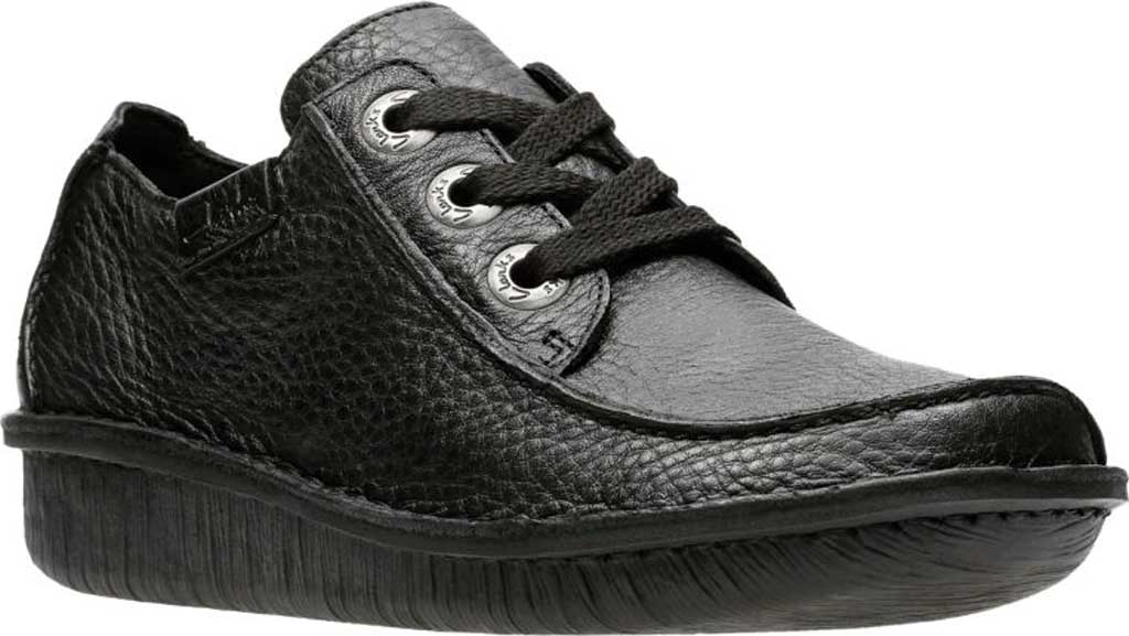Women's Clarks Funny Dream Lace Up Shoe, Black Leather, large, image 1