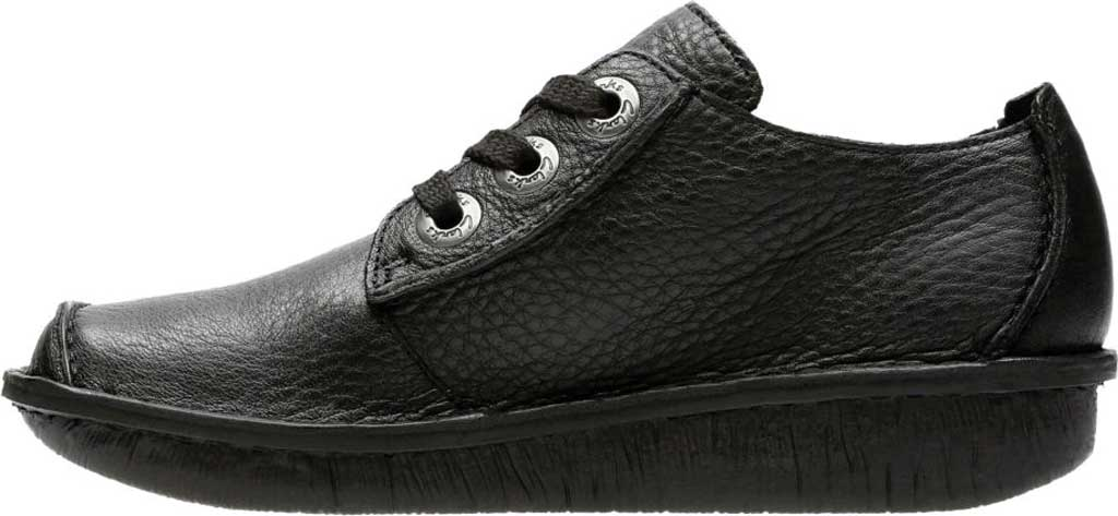 Women's Clarks Funny Dream Lace Up Shoe, Black Leather, large, image 3
