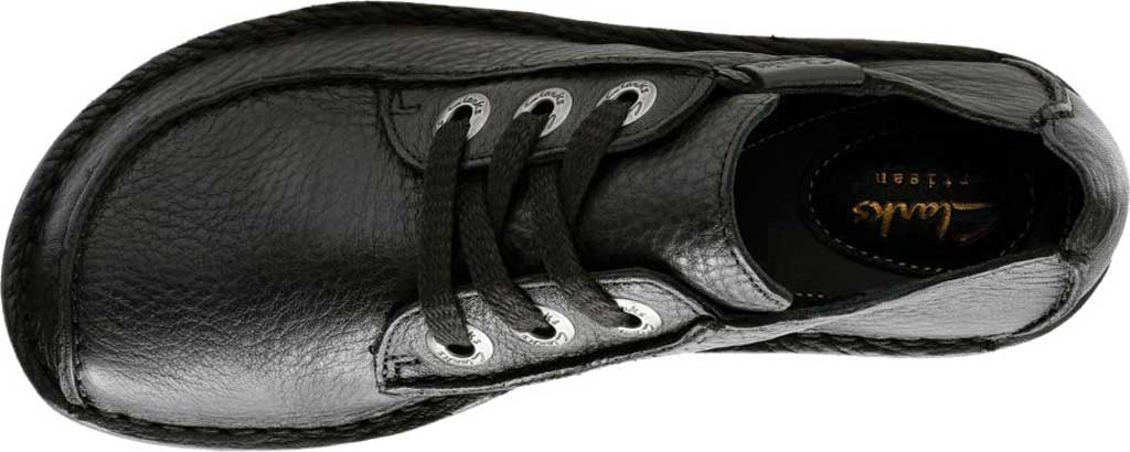 Women's Clarks Funny Dream Lace Up Shoe, Black Leather, large, image 5