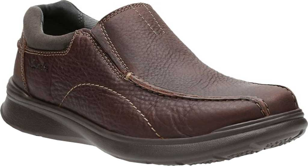 Men's Clarks Cotrell Step Bicycle Toe Shoe, Black Oily Cow Full Grain Leather, large, image 1