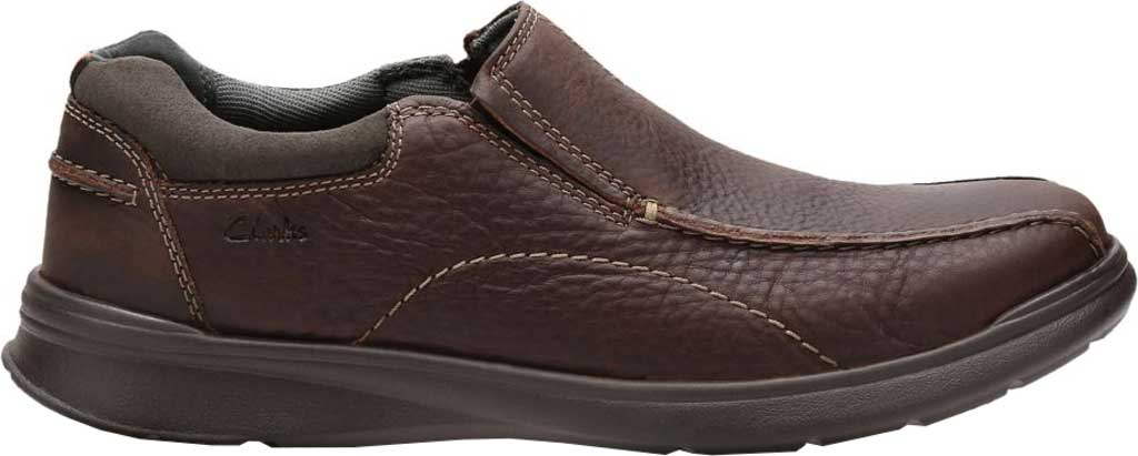 Men's Clarks Cotrell Step Bicycle Toe Shoe, Black Oily Cow Full Grain Leather, large, image 2