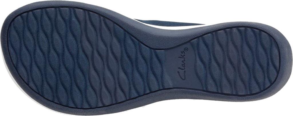 Women's Clarks Arla Glison Thong Sandal, Blue Heather Fabric, large, image 7