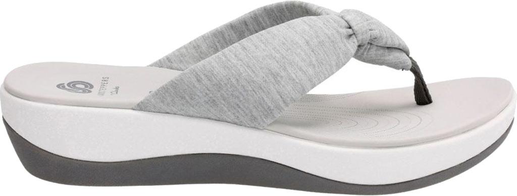 Women's Clarks Arla Glison Thong Sandal, Grey Heather Fabric, large, image 2