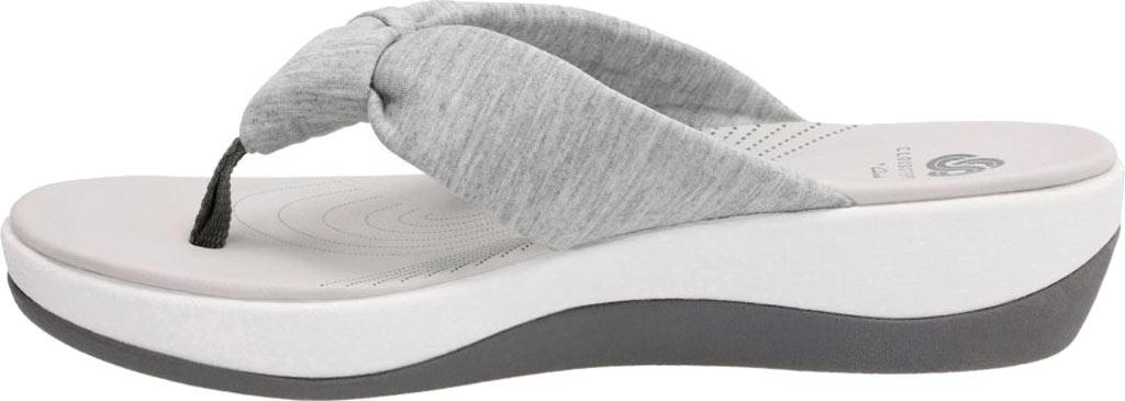 Women's Clarks Arla Glison Thong Sandal, Grey Heather Fabric, large, image 3