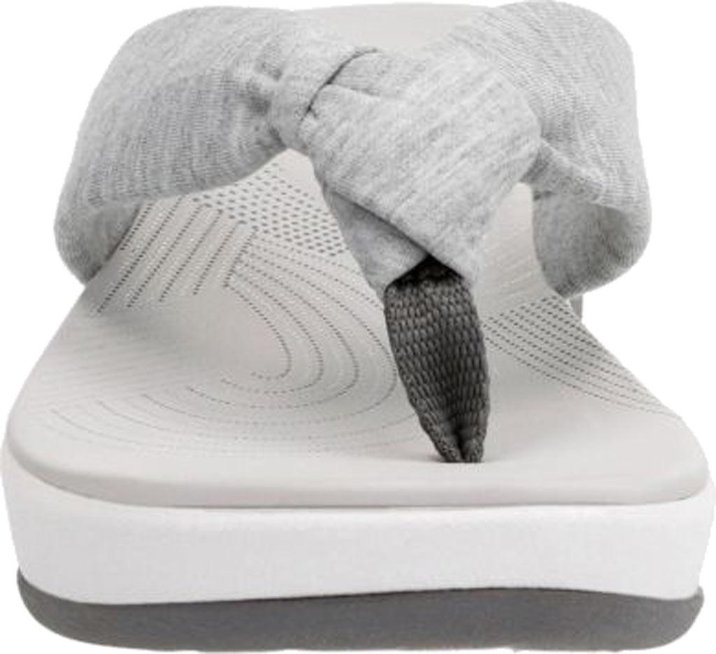 Women's Clarks Arla Glison Thong Sandal, Grey Heather Fabric, large, image 4