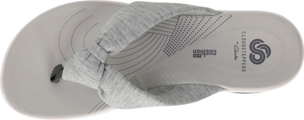 Women's Clarks Arla Glison Thong Sandal, Grey Heather Fabric, large, image 6