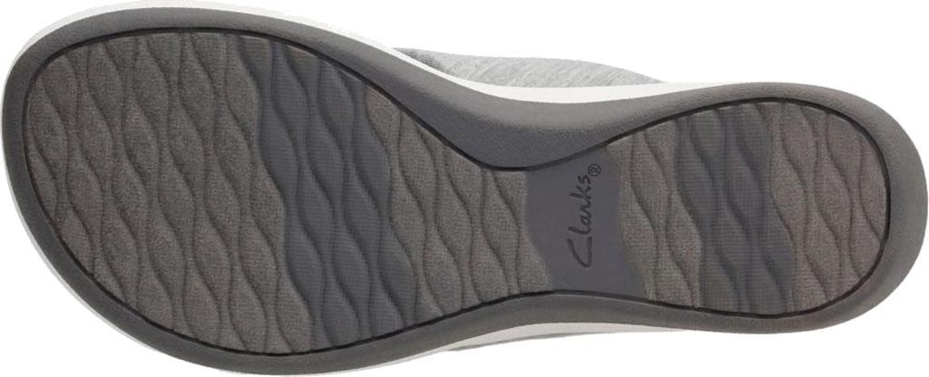 Women's Clarks Arla Glison Thong Sandal, Grey Heather Fabric II, large, image 7